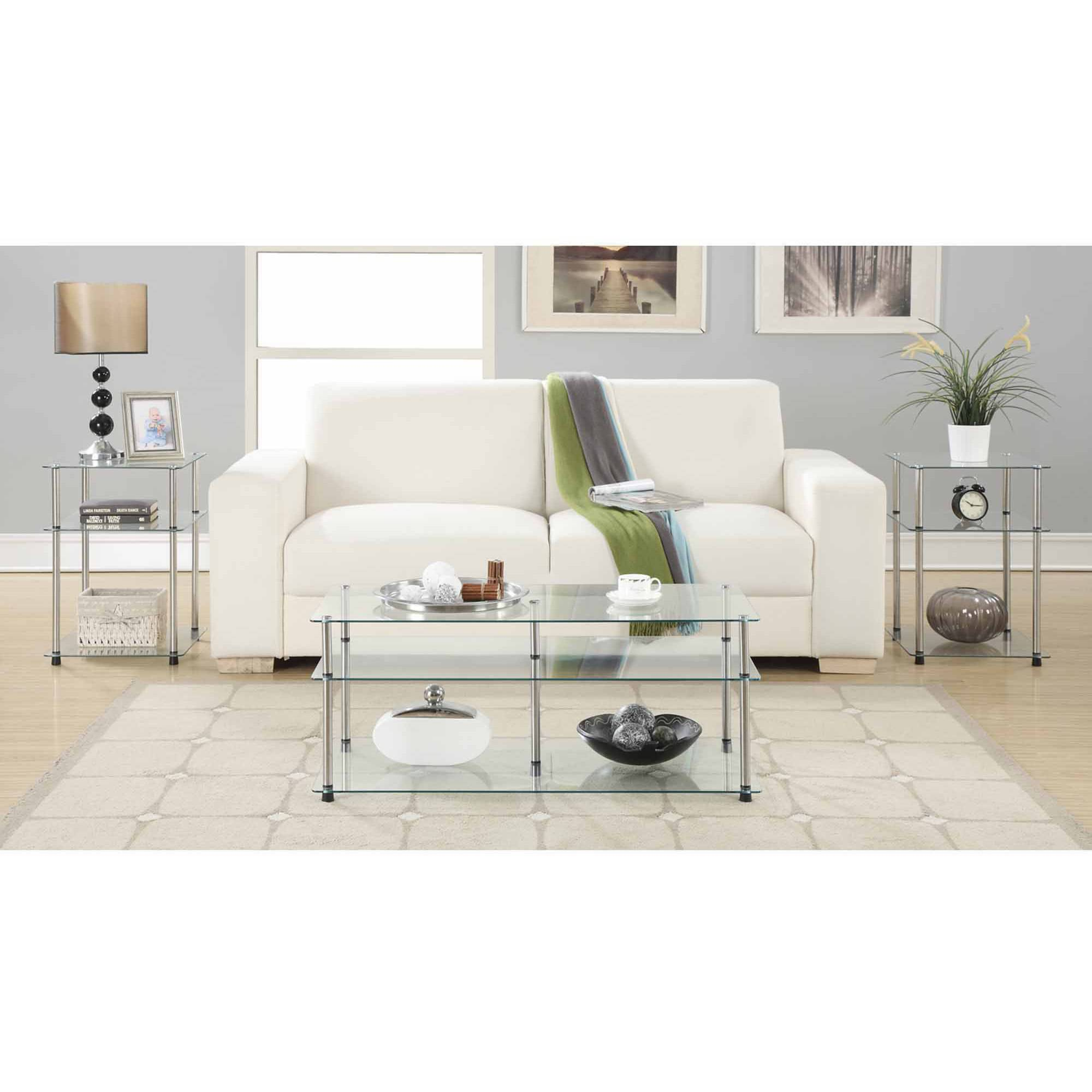 Convenience Concepts Designs2Go No Tools 3 Tier Coffee Table