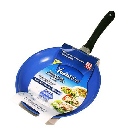 As Seen On Tv Yoshi Blue Ceramic Skillet Walmart Com