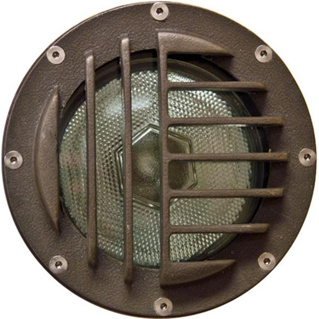 Dabmar Lighting FG4460 Fiberglass In-Ground Well Light with Convex Grill, Bronze