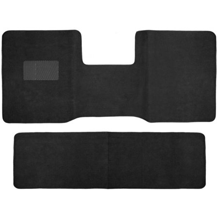 Heavy Duty Full Set Front and Rear Carpet Floor Mats for Truck, Black