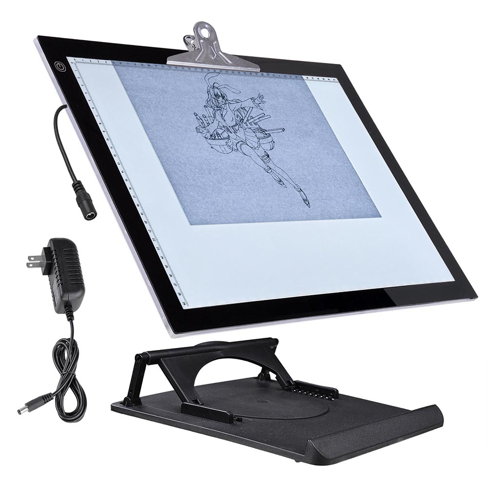 Yescom A3/A4 LED Drawing Board Artcraft Tracing Light Box with Stand Active  Area Stencil Tattoo Table Display Pad