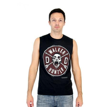 - Walking Dead Daryl Faux Patch & Wings Adult Black Sleeveless T-Shirt