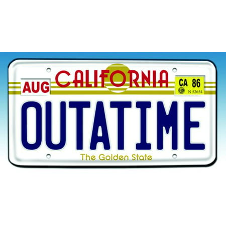 Back to the Future Outatime License Plate Replica (Delorean License Plate Back To The Future)