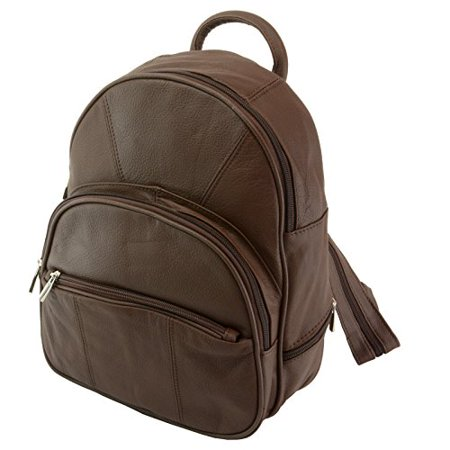 Mens Wallet - Leather Backpack Purse Mid Size   Convertible into single  strap sling Bag or Backpack wearing Multiple Organizer Pockets (Brown) -  Walmart.com d88a1956e7cb