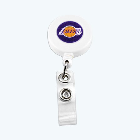 Lo Angeles Lakers Sports Team Logo Retractable Badge Reel Id Ticket Clip