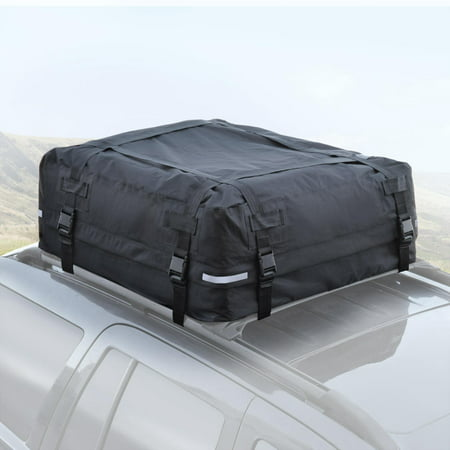 BDK TopHaul Waterproof Roof Top Cargo Bag XL for Car Auto SUV Van - Soft Rooftop