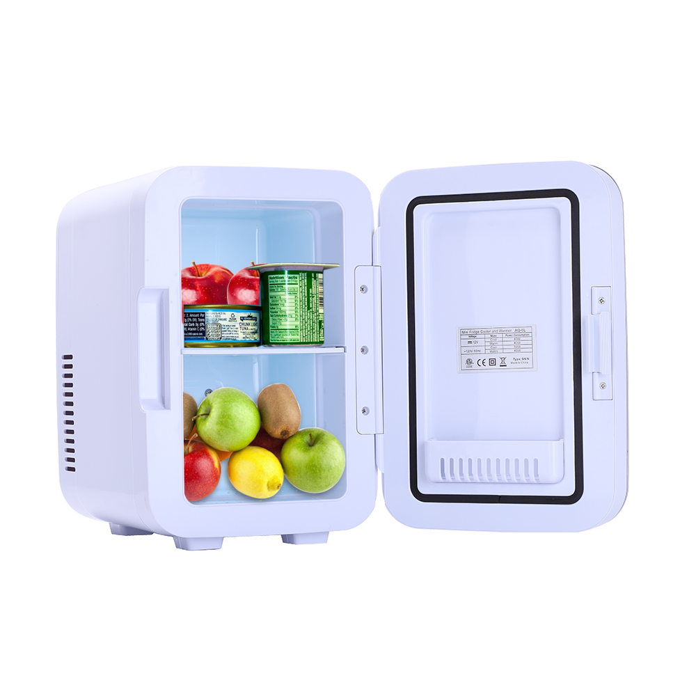 Mini Fridge 6L Portable Compact Refrigerators Powered Thermoelectric System Cooler and Warmer Small Fridger for Cars Free Size, Black Home