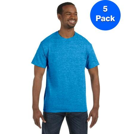 Mens 5 3 oz Heavy Cotton T Shirt 5 Pack