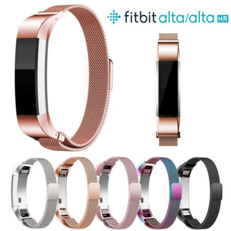 Magnetic Stainless Steel Watch Band Strap for Fitbit Alta/Alta HR (21mm Steel Watch Band)