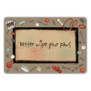 Drymate Dog Collection Welcome Mat - Bow Wow Border