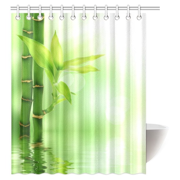 WOPOP Bamboo House Decor Shower Curtain, Mildew Resistant ...
