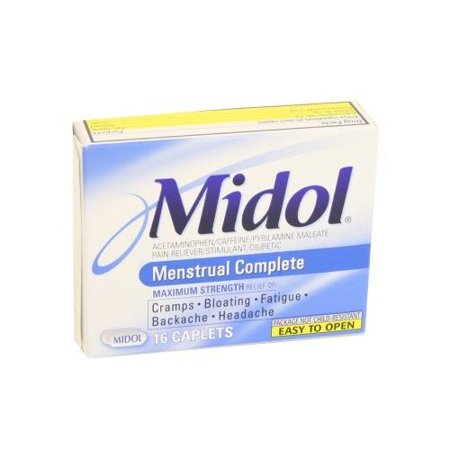 4 Pack - Midol complet Caplets 16 Caplets Chaque