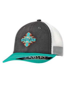 2f2084bde48c8 Product Image Ariat 1519006 Youth Aztec Logo Ball Cap