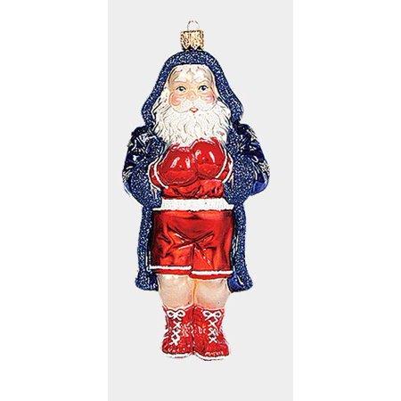 Boxing Santa Polish Mouth Blown Glass Christmas Ornament Sports Decoration Boxer