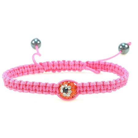 Round Red Evil Eye Ball Bracelet - Handmade Hot Pink String, Macramé Style, Adjustable Bracelet, Protective Amulet, Good Luck Charm, Lightweight – 91112](Cool String Bracelets)