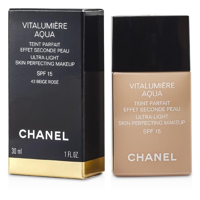 Chanel 12546080202 Vitalumiere Aqua Ultra Light Skin Perfecting Make Up SFP 15 - number  BR40 Beige Rose Desert - 30ml-1