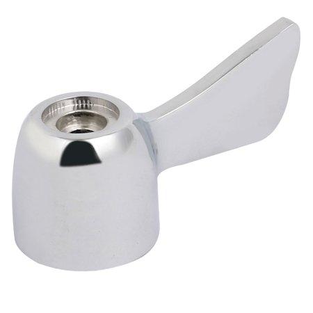 Faucet Accessory Zinc Alloy Universal Fit Handle W Screw Cover Cap Silver Tone