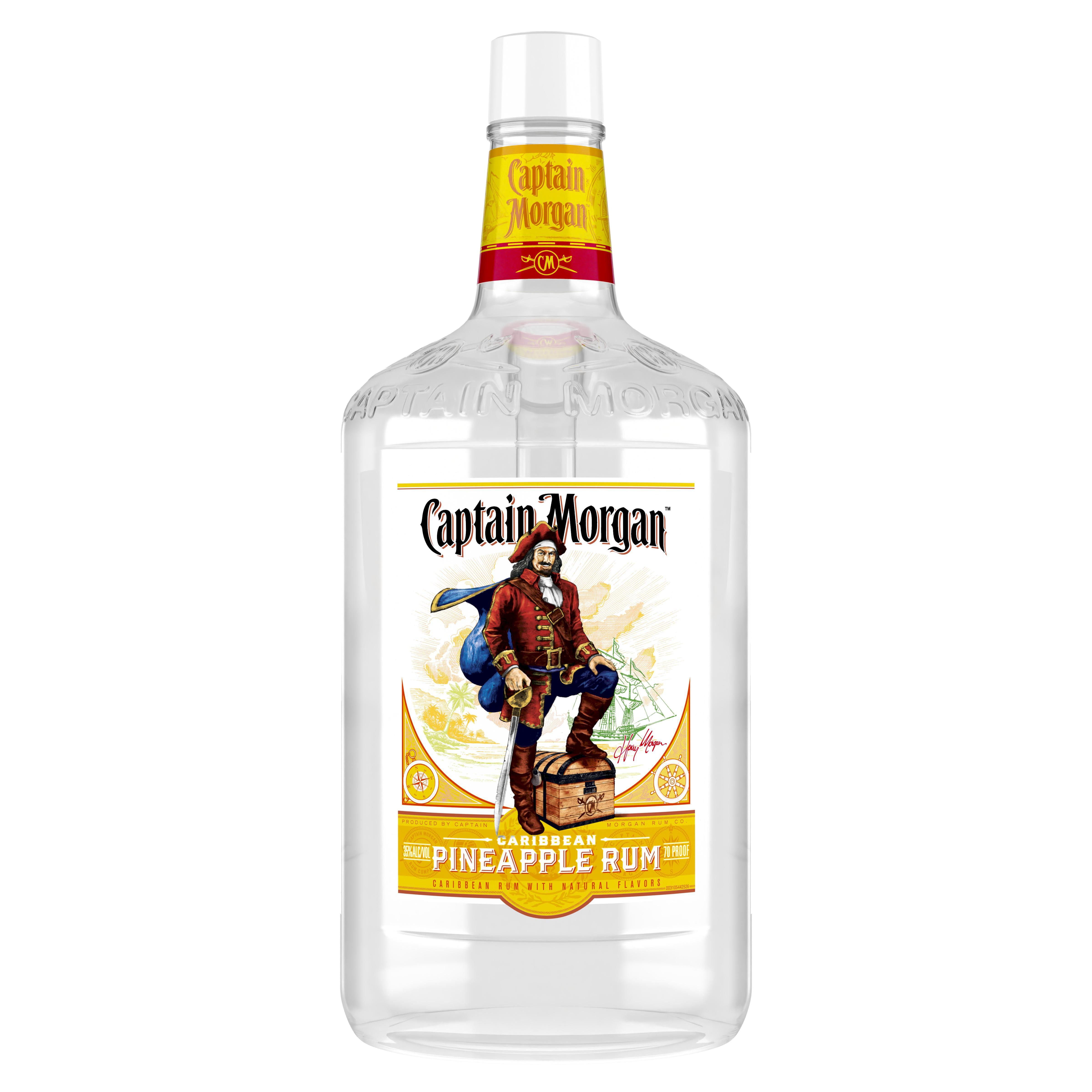 Captain Morgan Pineapple Rum 1 75 L 70 Proof Walmart Com Walmart Com