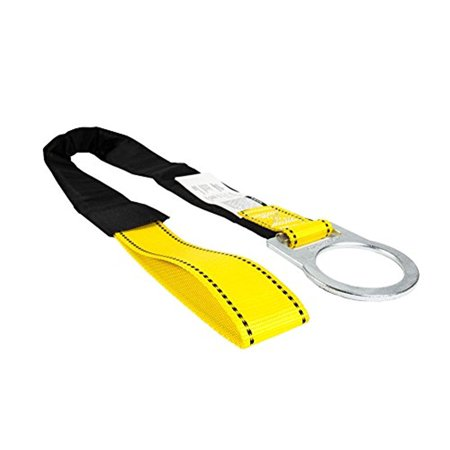 Guardian Fall Protection 10715 4-Foot Loop and D-Ring End Concrete Anchor Strap with Protective Sheathing