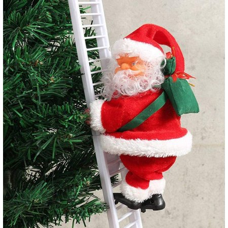 Electric Santa Claus Climbing Ladder Playing Music Figurine Holiday Decor Xmas Party Decorations Christmas Tree Hanging Ornaments Walmart Canada
