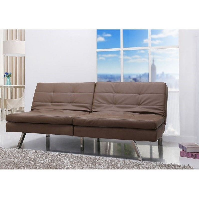 Gold Sparrow Memphis Taupe Double Cushion Futon Sofa Bed
