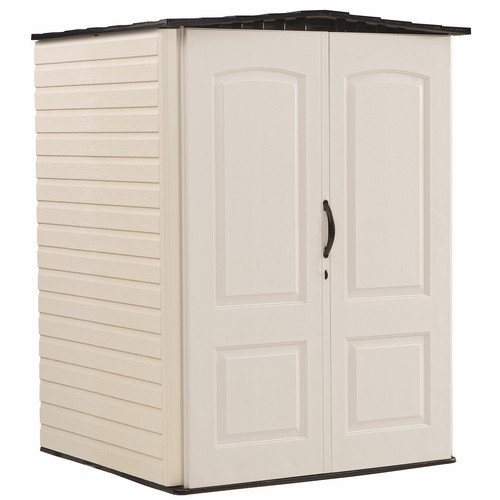 Rubbermaid 4 ft. 4 in. W x 4 ft. D Plastic Vertical Tool Shed