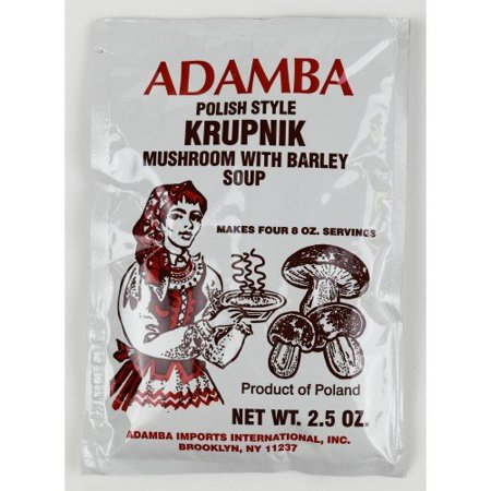 Adamba Polish Style Krupnik Mushroom with Barley Soup Mix (3-Pack)