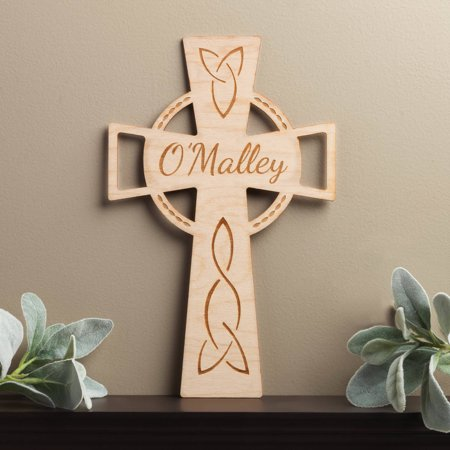 Personalized Celtic Wood Cross