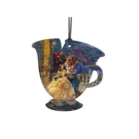 Trend Setters Disney Beauty and the Beast Chip Hanging Teacup Shaped Ornament - Beauty And The Beast Teacup Chip