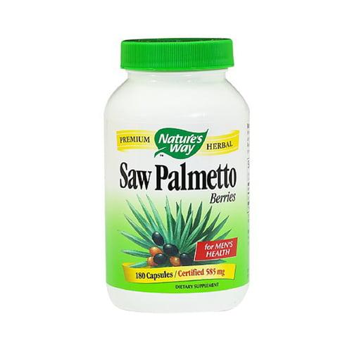 Natures Way Saw Palmetto Berries Premium Herbal Capsules For Men - 180 Ea