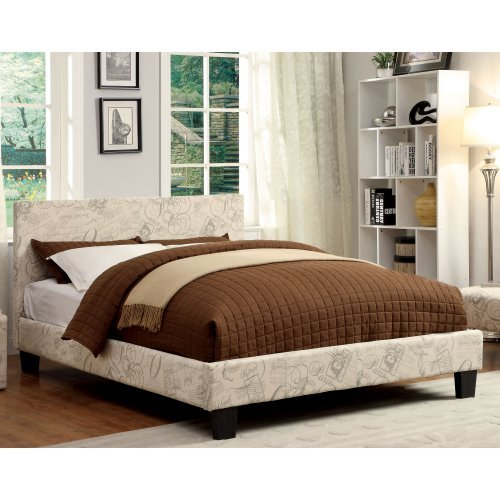 Furniture of America Kristoff Low Profile Upholstered Bed