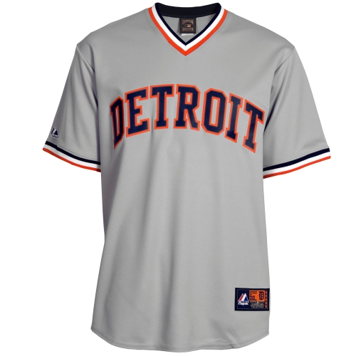 Detroit Tigers Majestic Cooperstown Cool Base Team Jersey - Gray