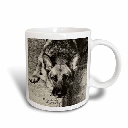 3dRose German Shepherd , Ceramic Mug, 11-ounce