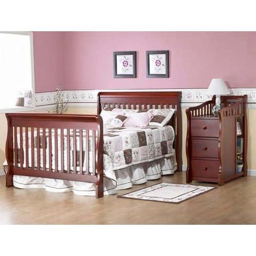 Sorelle Tuscany 4in1 Convertible Crib and Changer Espresso