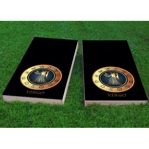 Custom Cornhole Boards Zodiac Virgo Themed Cornhole Game (Set of 2) by Custom Cornhole Boards