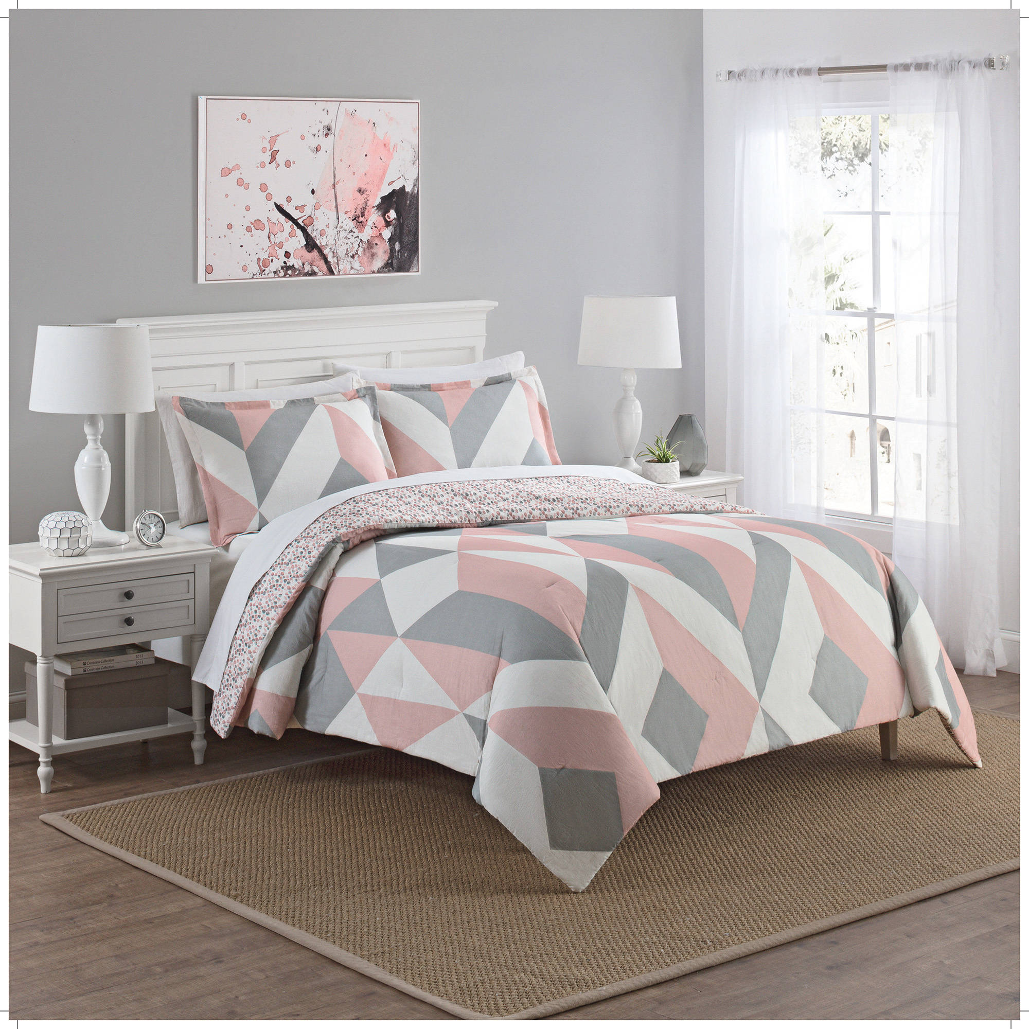 Marble Hill Lena Reversible 3-Piece Comforter Set