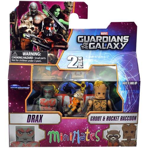Marvel Minimates Series 57 Drax, Rocket & Groot minifigure 3-Pack