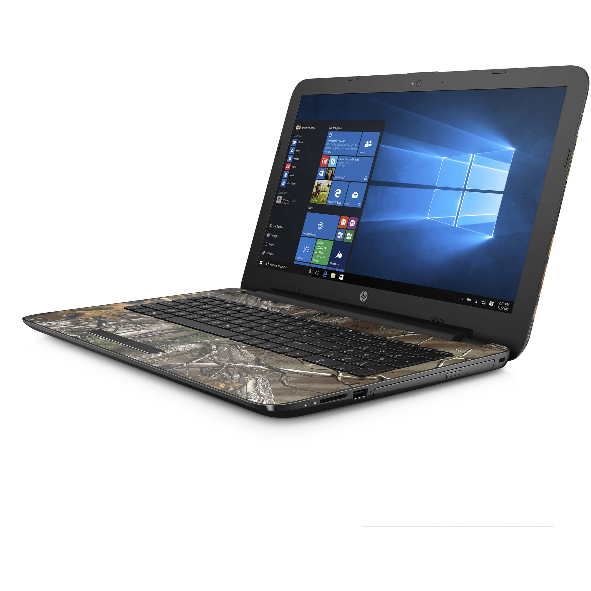 "HP 15-bn070wm 15.6"" Laptop, Windows 10 Home, Intel Pentium N3710 Quad-Core Processor, 4GB Memory, 1TB Hard Drive"