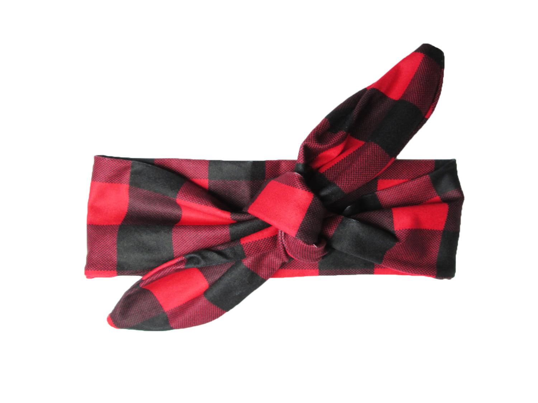 Christmas Plaid Bow for Baby Girls on Headband Baby Girl Christmas Headband with Plaid Ribbon Bow Red Plaid Christmas Baby Bow Headband