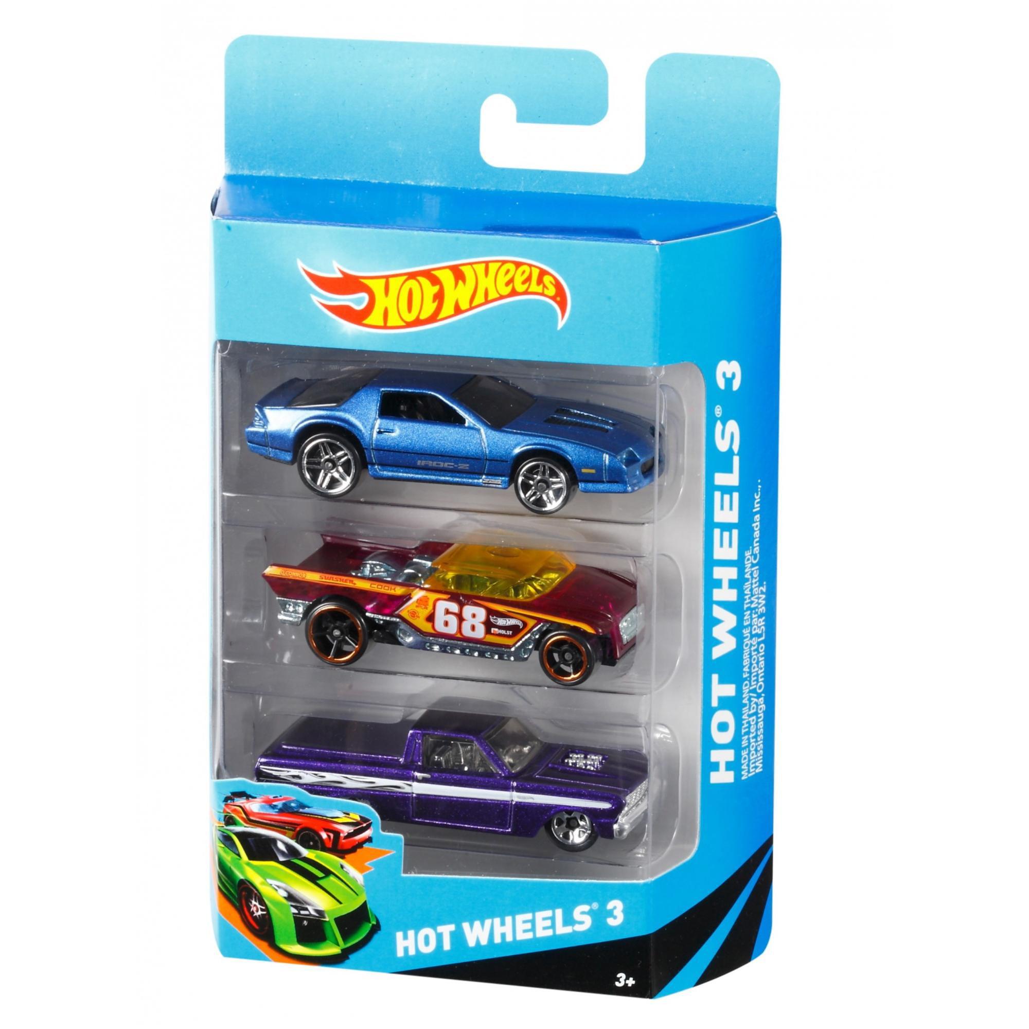 hot wheels 3 die cast car gift pack styles may vary walmartcom - Voitures Hot Wheels