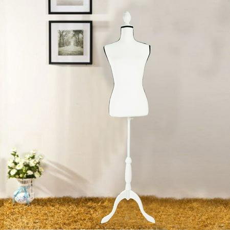 Ktaxon Fiberglass Female Mannequin Manikin Clothing Display W/ White Tripod Stand Cameo White Male Mannequin