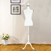 Ktaxon Fiberglass Female Mannequin Manikin Clothing Display W/ White Tripod Stand
