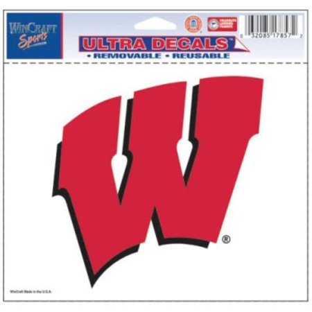 Wisconsin Badgers Official Logo 4x6 Ultra Decal Window Cling, Team logo ultra 4 x 6 Decal. By (Logo Small Window Cling)