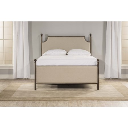 McArthur Upholstered Bed Set - Bronze Finish - Queen - Bed Frame Not Included, Bronze