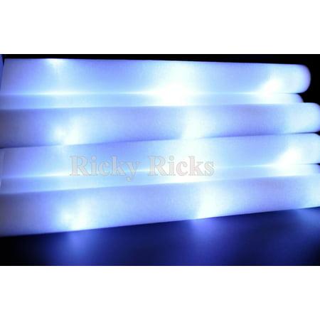 (100 Pack) WHITE Light Up Sticks Batons LED Wands Rally Rave Batons DJ Flashing Glow Sticks Cheer Tubes Wedding Quinceanera Favors