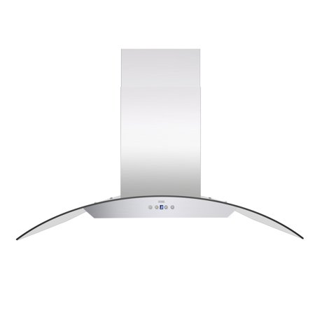 KOBE ISX2430SQB-2 Brillia 30-inch Island Range Hood, 6-Speed, 600 CFM, Fits Ceiling Height 7.5'-9.5' Kitchenaid Island Hood