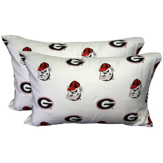 College Covers NCAA Georgia Pillowcase (Set of 2)