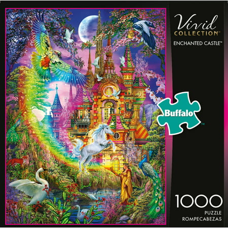 Enchanted Forest Jigsaw Puzzle - Buffalo Games - Vivid Collection - Enchanted Castle - 1000 Piece Jigsaw Puzzle