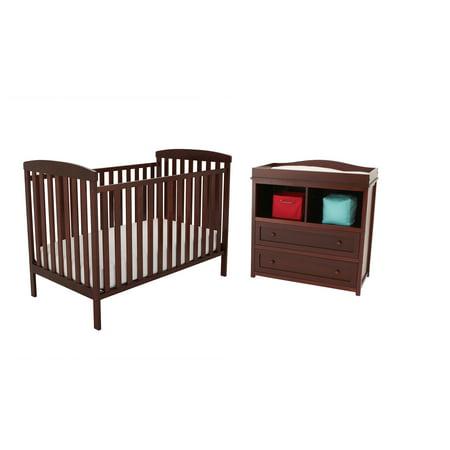 AFG- Athena Leila Crib and Dresser/Changing Table Set, Choose Your ...