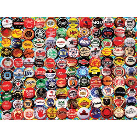 Beer Bottle Caps - 550 Piece Jigsaw Puzzle